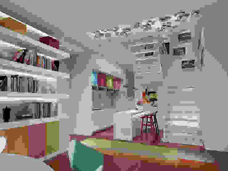 Столовая комната в стиле модерн от atelier blur / georges hung architecte d.p.l.g. Модерн