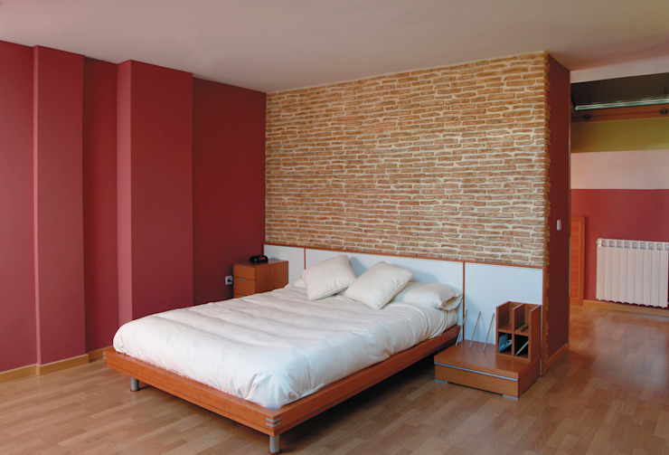 Pinturas oliváN Rustic style bedroom