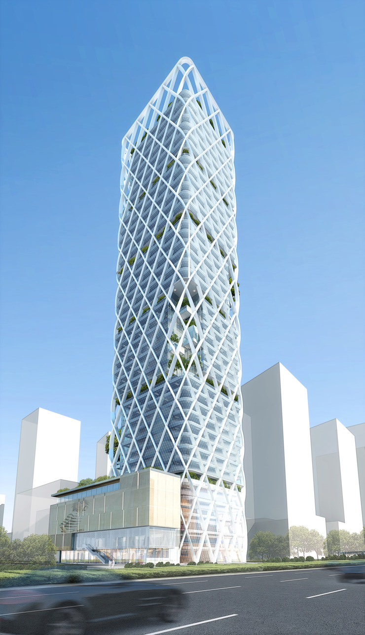 VC-PE Tower: modern  by atelier blur / georges hung architecte d.p.l.g., Modern