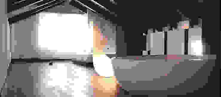 UNA MANSARDA OPEN Case in stile minimalista di Andrea Bella Concept Minimalista
