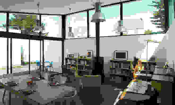 ATELIER D'ARCHITECTURE ET D'URBANISME MARTIAL Casas de estilo moderno