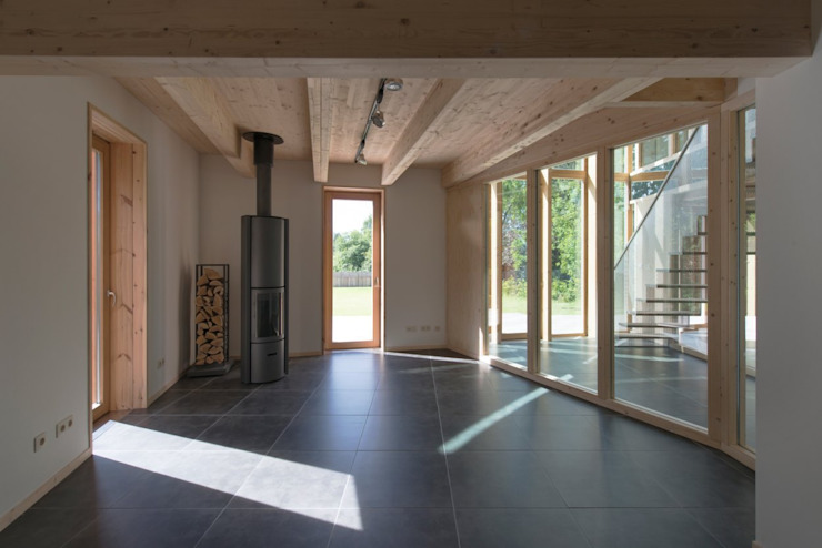 MAISON POUR ALAIN HUBERT par Philippe SAMYN and PARTNERS, architects & engineers Moderne