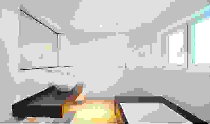 Haus B - Regensburg Minimalistische Badezimmer von brandl architekten . bda Minimalistisch