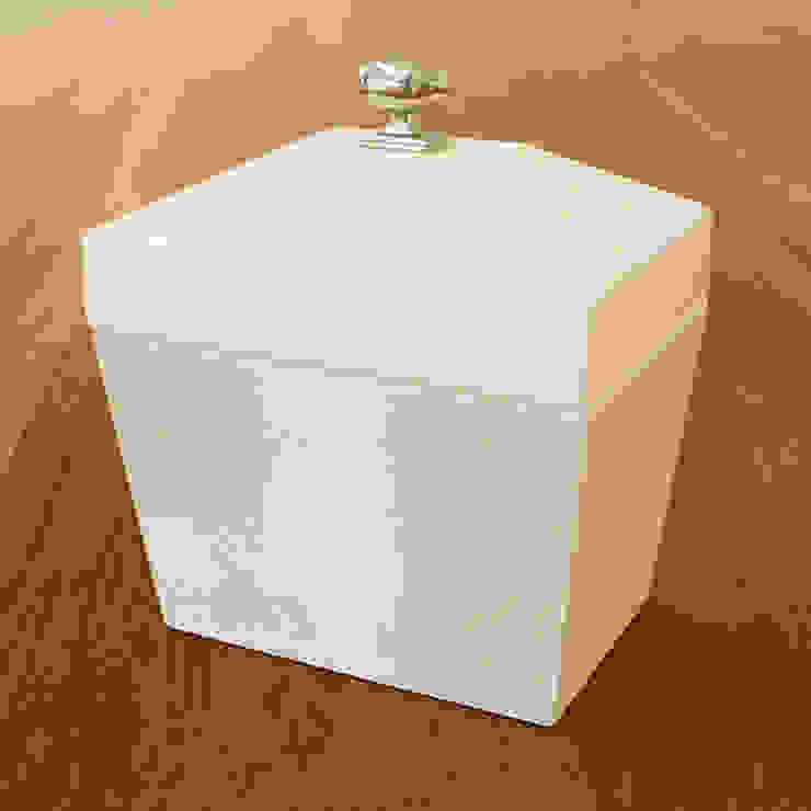 Computer Disk Holz Box-Ivory by Global Views Sweets & Spices Dekoration und Möbel WohnzimmerAccessoires und Dekoration