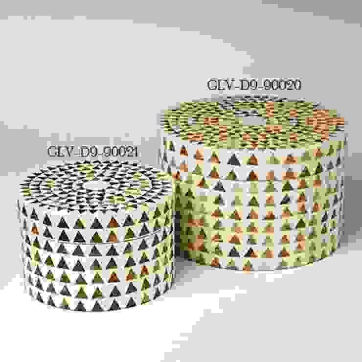 Dreieck Streifen Box-Rund by Global Views Sweets & Spices Dekoration und Möbel WohnzimmerAccessoires und Dekoration