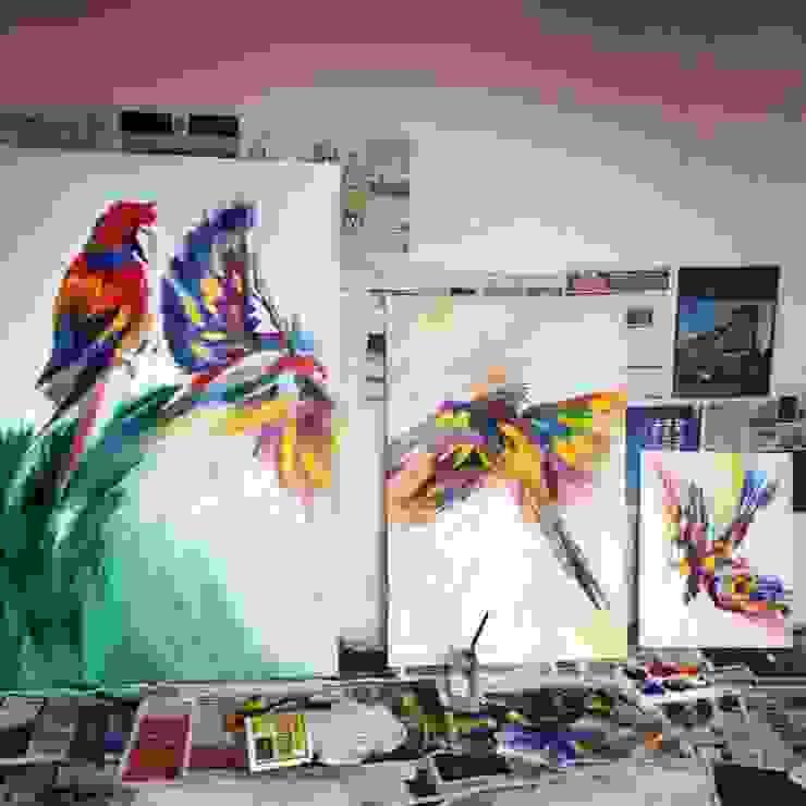 Parrot colour: tropical  by vickyfrazer.com, Tropical
