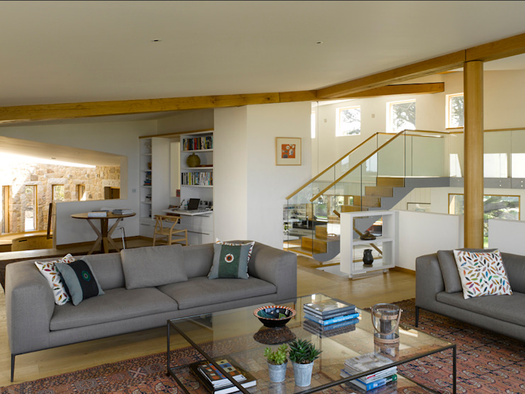 Jersey House Modern Living Room by Hudson Architects Modern