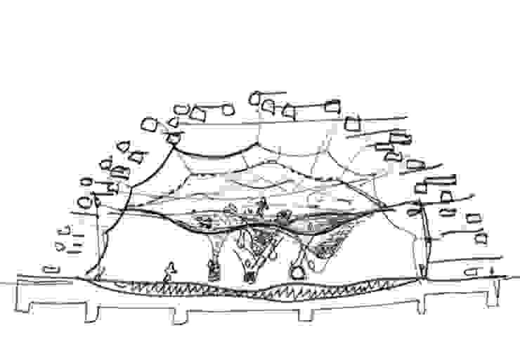 Sketch by Takaharu Tezuka: TEZUKA ARCHITECTSが手掛けた現代のです。,モダン