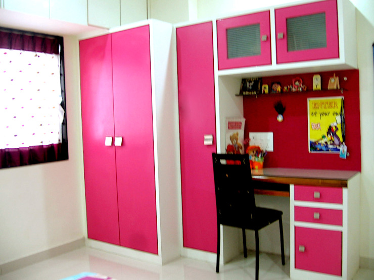 Teenage girl bedroom: modern  by 4D The Fourth Dimension Interior Studio,Modern