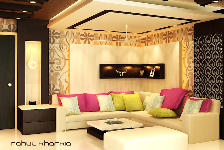 Living Area: modern  by Effects Decors & Interiors,Modern
