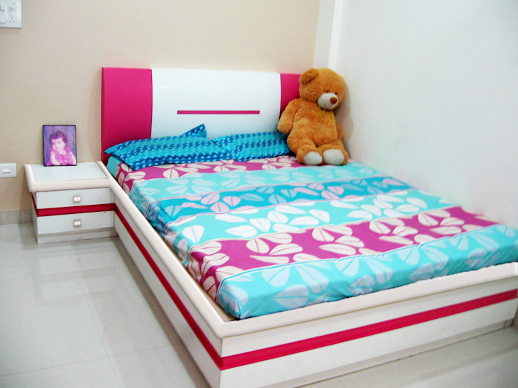 bed: modern  by 4D The Fourth Dimension Interior Studio,Modern