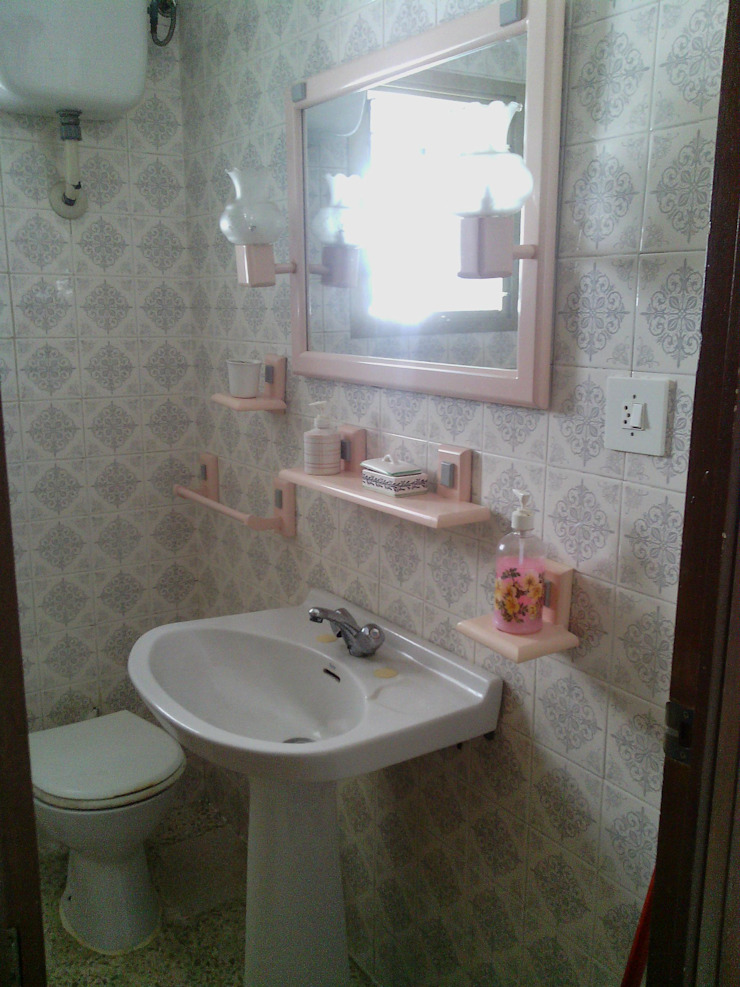 Antes Baño de Cinthia Vanderberg Moderno