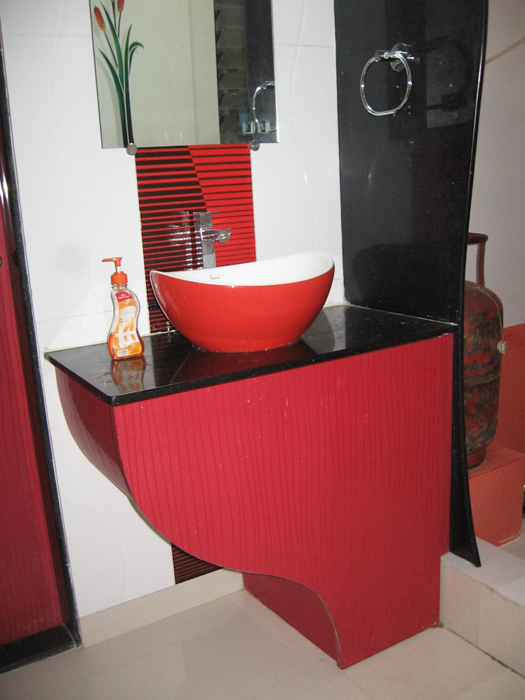 Wash basin area: modern  by 4D The Fourth Dimension Interior Studio,Modern