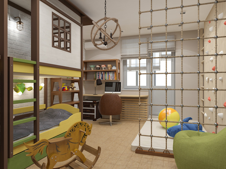 ミニマルスタイルの 子供部屋 の PlatFORM ミニマル