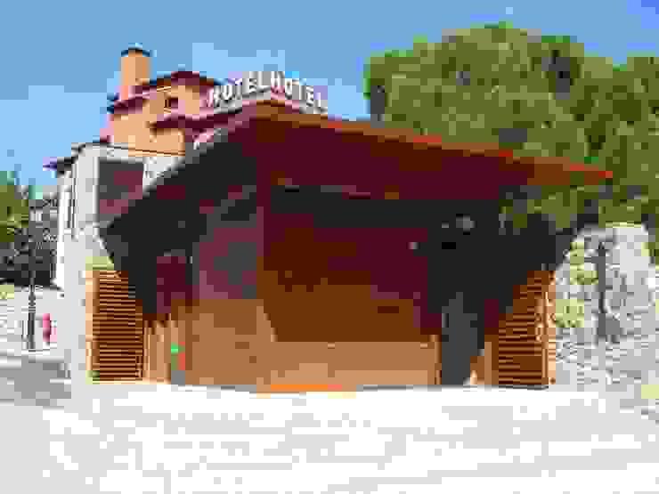 Oficina de información turística, Manzanares el Real, Madrid Espacios de JARQUE ALONSO ARQUITECTOS