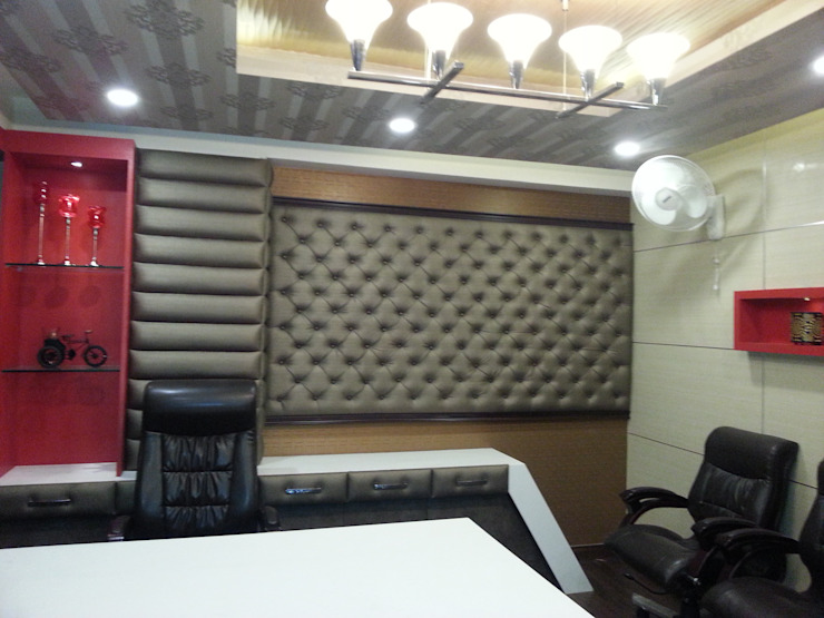 Highbuild Infrastructure Office: modern  by Studio Interiors Infra Height Pvt Ltd,Modern