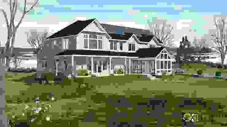 Exterior Design Rendering For River Side Residential: modern  by Yantram Architectural Design Studio, Modern