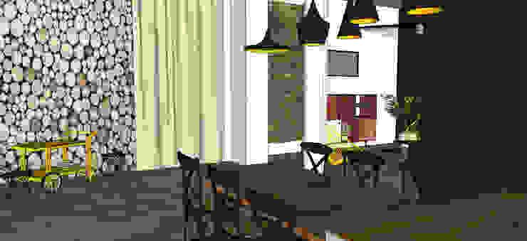 un appartement graphique Salon par MON OEIL DANS LA DECO