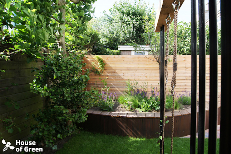 slingerbank beplantingen Moderne tuinen van House of Green Modern