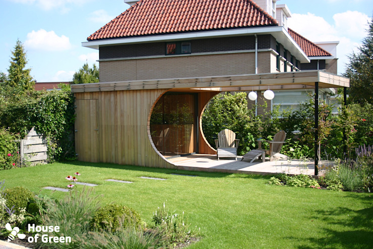 Tuinhuis op maat Moderne tuinen van House of Green Modern
