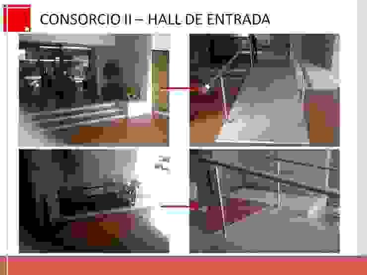 remodelacion de hall de entrada de edificio de Remodelaciones SF Ecléctico