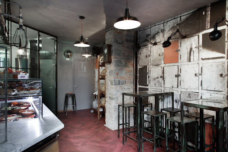 Angelo Sabella Architetto의  바 & 카페, 인더스트리얼