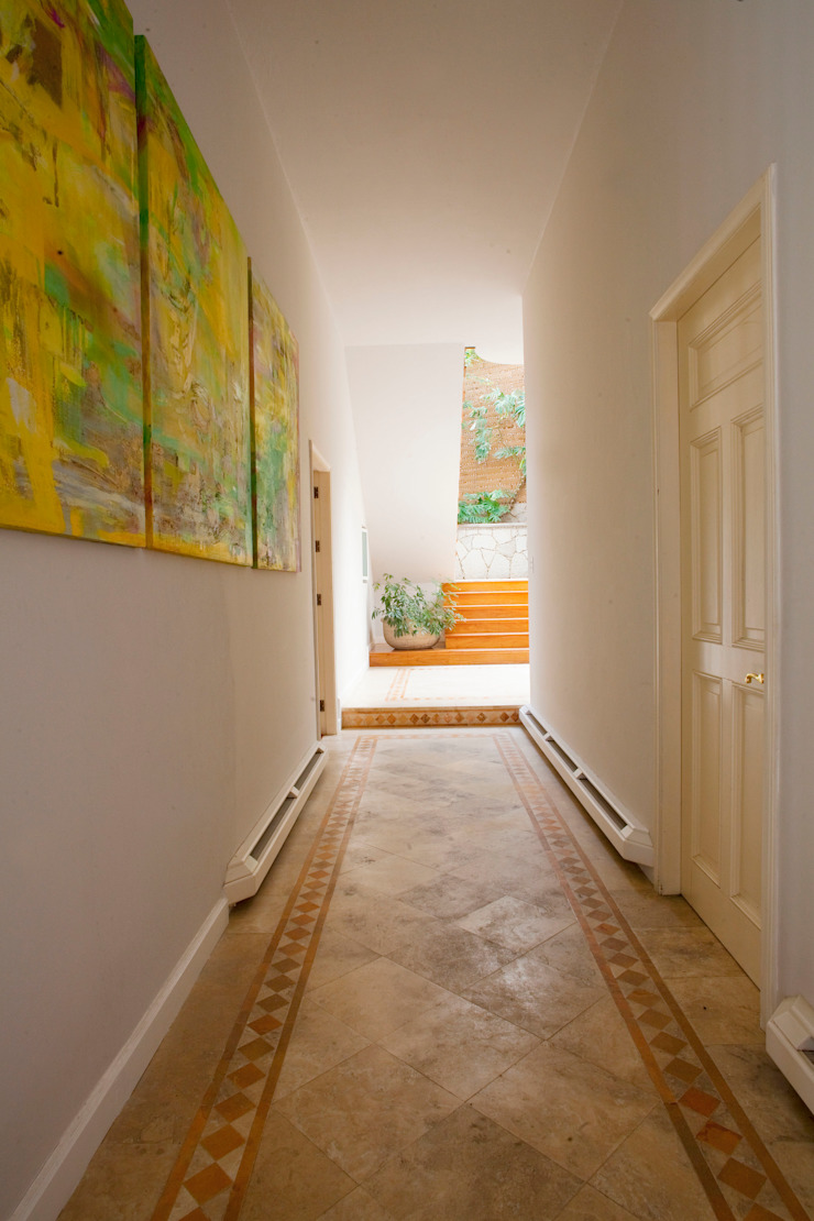 Erika Winters® Design Eclectic style corridor, hallway & stairs