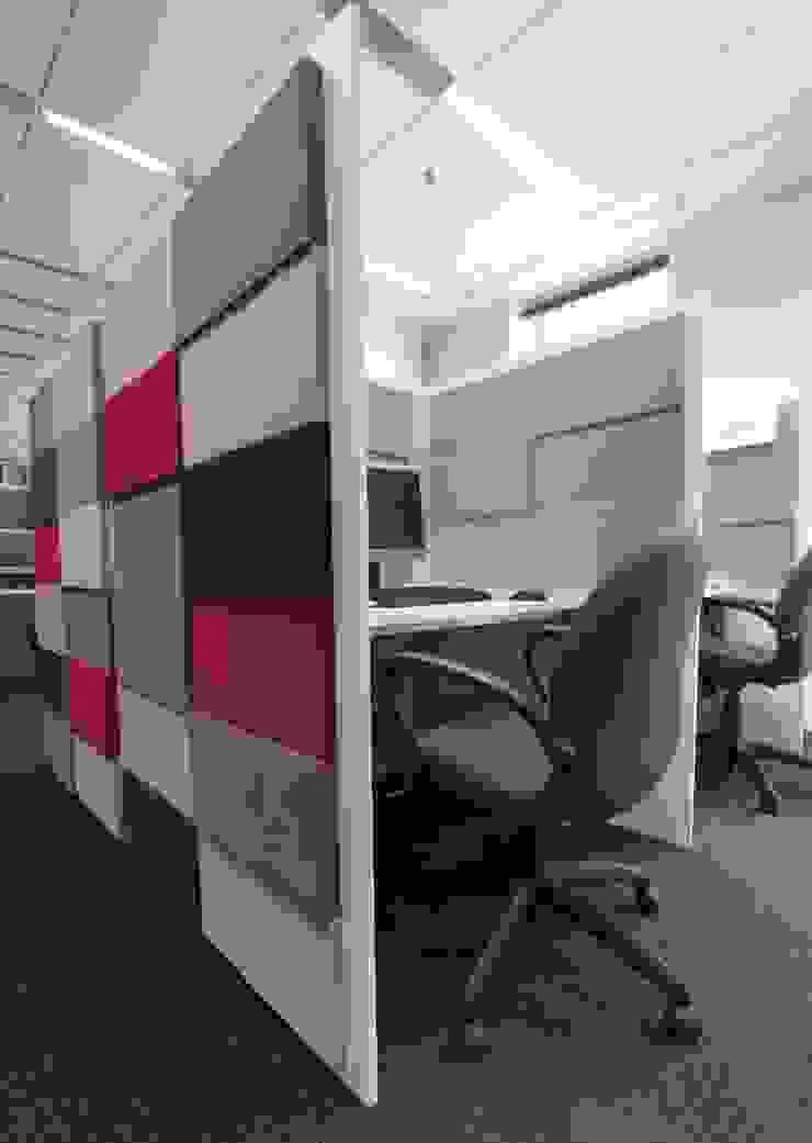 Przestrzeń biurowa by Mikomax Nowoczesne domowe biuro i gabinet od FLUFFO fabryka miękkich ścian Nowoczesny