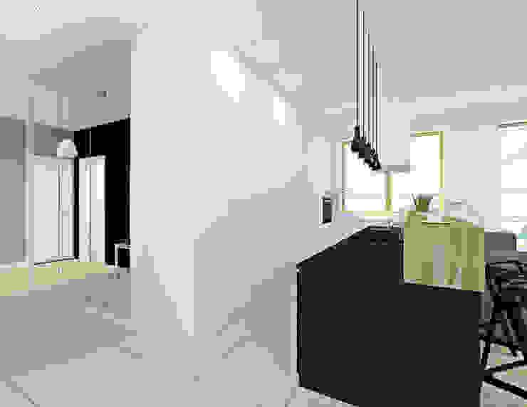 Mieszkanie 2+1, 74m2 Nowoczesna kuchnia od A+A Nowoczesny