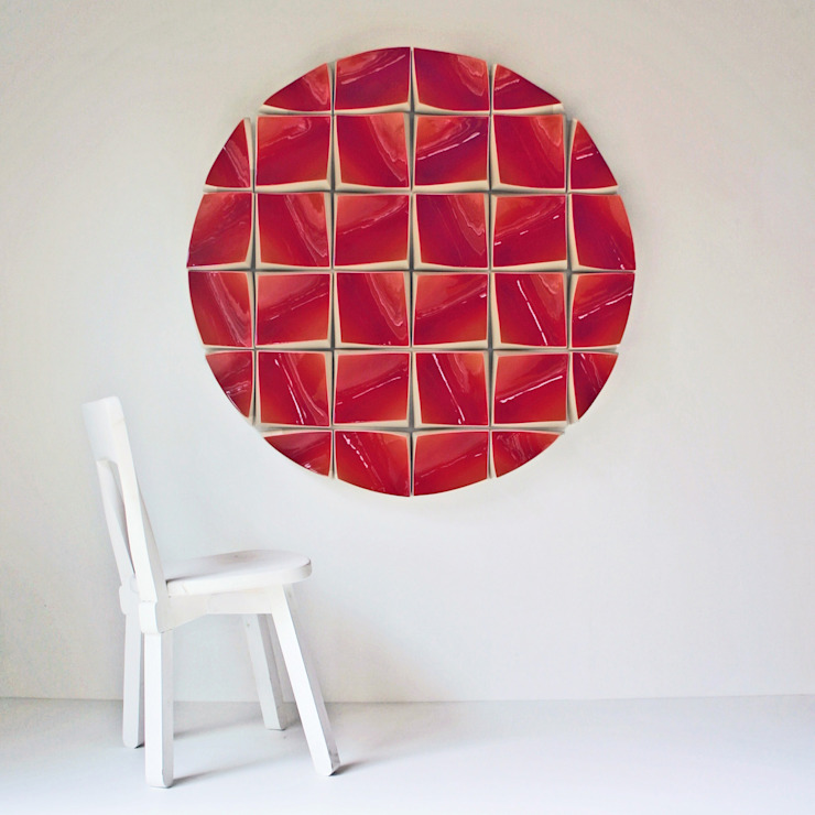 Big circle Red: modern  door Slingerland en Verhoeven, Modern