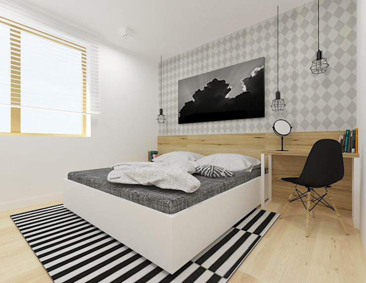 A+A Scandinavian style bedroom
