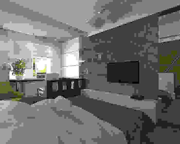 студия Виталии Романовской Minimalist bedroom