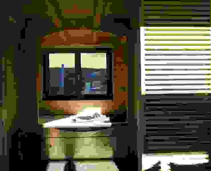 coeur privé per gli ospiti Camera da letto in stile rustico di enrico girardi architetto Rustico