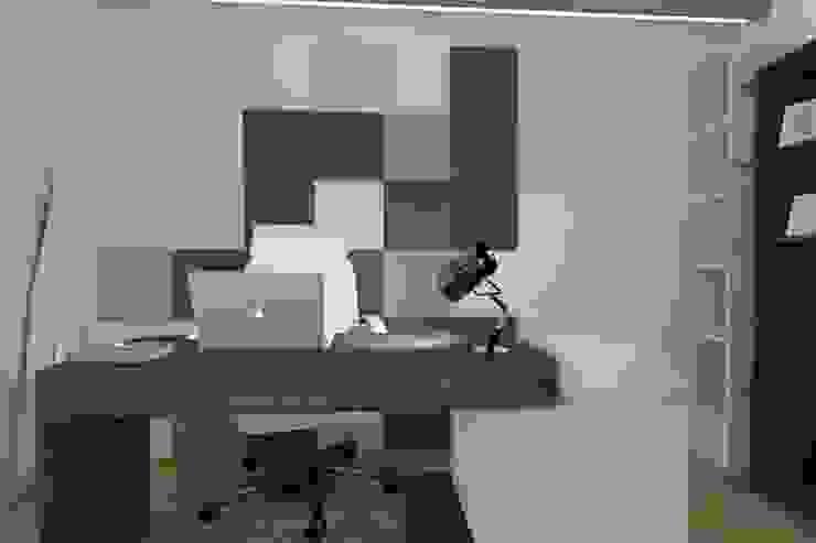 Gabinet w apartamencie Nowoczesne domowe biuro i gabinet od FLUFFO fabryka miękkich ścian Nowoczesny