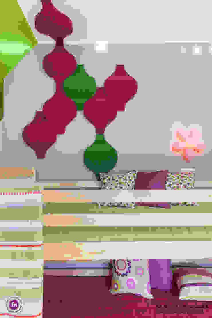 Pokój dzewczynki z akcentem Fluffo Flow 2.0 - detal Nowoczesny pokój dziecięcy od FLUFFO fabryka miękkich ścian Nowoczesny