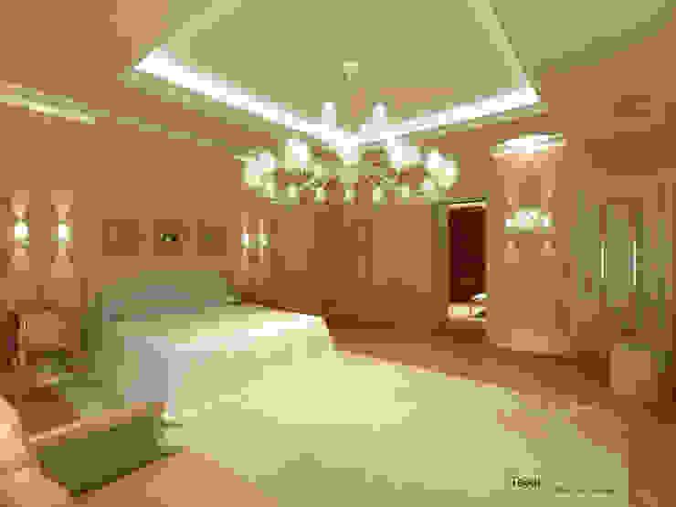 Camera da letto orientale Camera da letto in stile mediterraneo di homify Mediterraneo