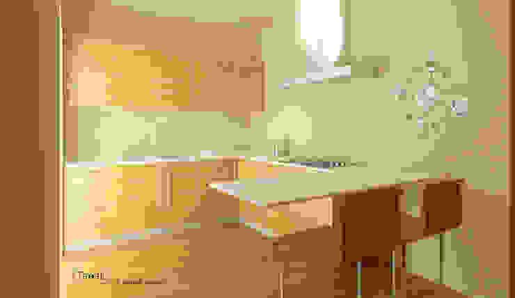 Cucina Minimalista appartamento privato Cucina minimalista di homify Minimalista
