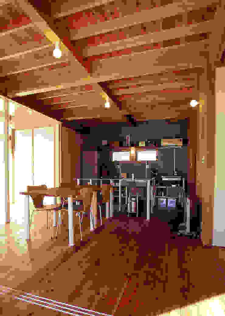 木のリビング オリジナルデザインの ダイニング の 稲吉建築企画室 オリジナル