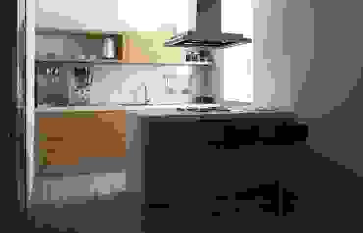 RENDER CUCINA Cucina moderna di Antonio pellegrino Moderno