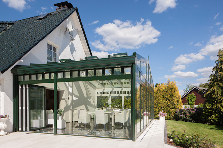 Luxuriöser Wintergarten mit dimmbaren Glas Moderner Wintergarten von masson GmbH Modern