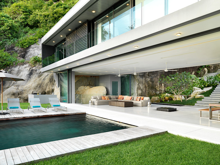 Modern pool by Original Vision Modern