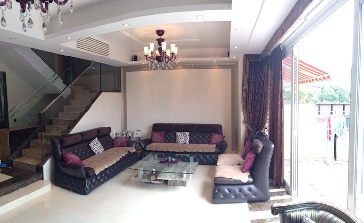 Lounge area of Living Room Asian style houses by Oui3 International Limited Asian