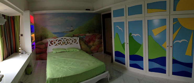 Childs Bedroom Asian style houses by Oui3 International Limited Asian