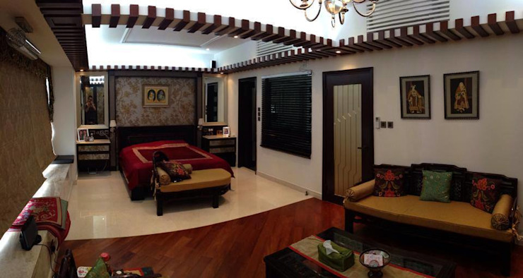 Master Bedroom Asian style houses by Oui3 International Limited Asian