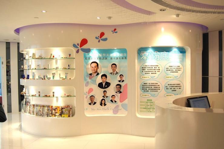 Display wall Oui3 International Limited Modern offices & stores