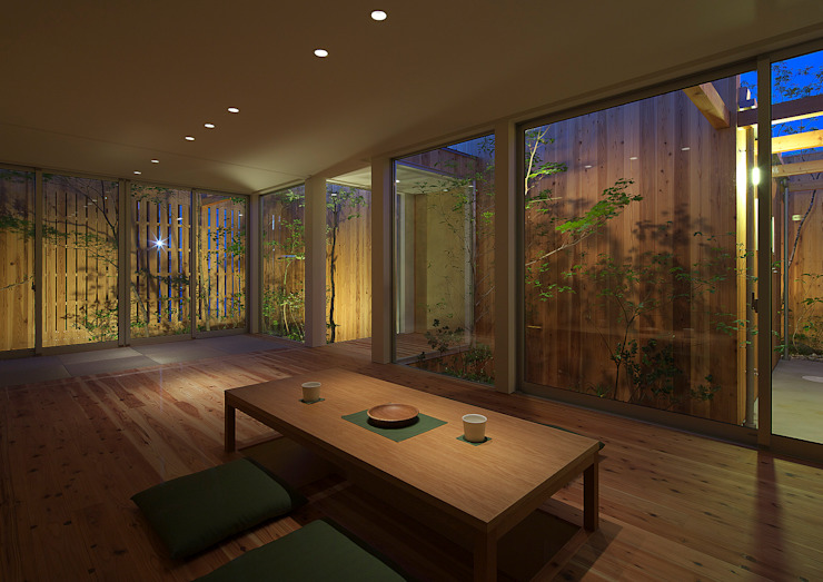 House of Nishimikuni arbol Modern living room