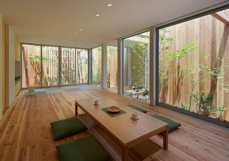 House of Nishimikuni Livings modernos: Ideas, imágenes y decoración de arbol Moderno