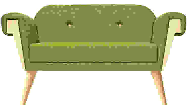 Hove Club Sofa Wooden Legs: modern  von homify,Modern