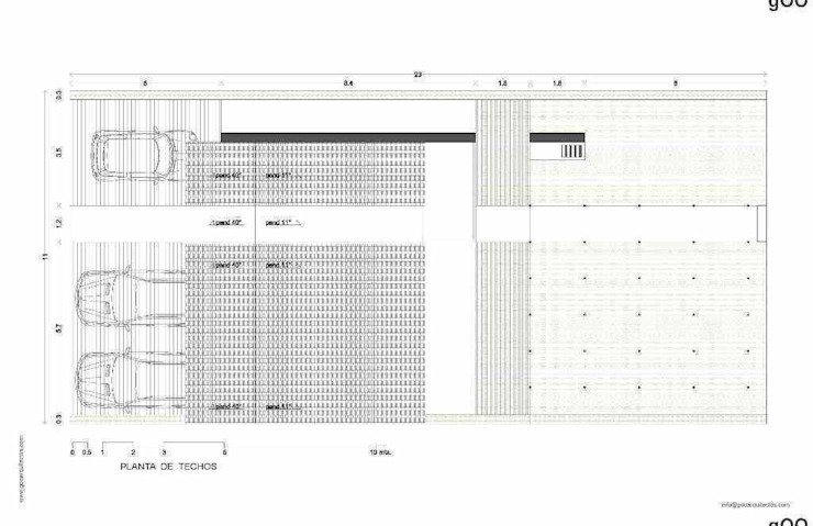LAS ACACIAS:  de estilo industrial por gOO Arquitectos, Industrial