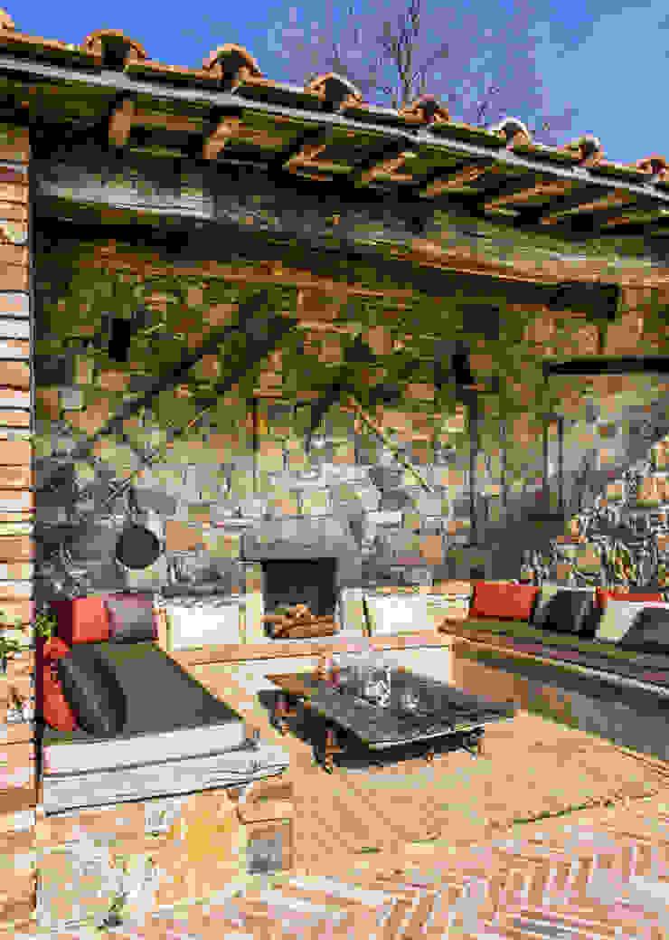 Toscane Balcon, Veranda & Terrasse méditerranéens par dmesure Méditerranéen